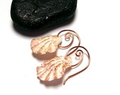 """Authentic Seashell Earrings with Genuine Claw Shells - """"Sea Shell Swirls"""" by StoneAlloy"""
