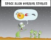 The Adventure of Alien Explorer on Earth 8x10 matte print or mug