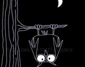 The Owl matte print or Coffee Mug