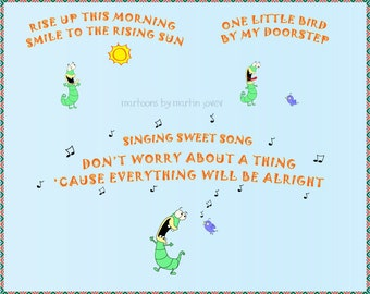 2017 Resolution Little Bird and Lizard Dancing On Bob Marley song Three Little Birds