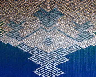 Handwoven Fine Art Tapestry - Meditation Piece - OOAK - Narcissus
