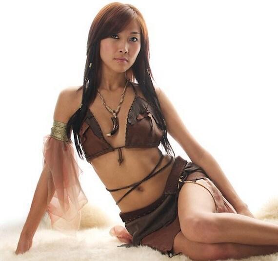The Sugar Magnolia - Ragged Leather Deerskin Bikini Top Custom Order/More Colors