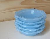 Pyrex robin's egg blue flower dessert bowls