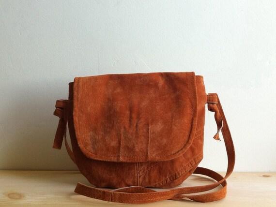 Pumpkin Suede Bag