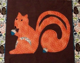 "Woodland Animal Quilt Block Pattern ""Squirrel"""