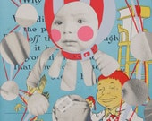 ICHABOD, Oh ICHABOD Original Mixed Media Collage/Painting Framed