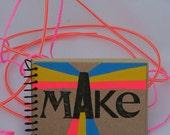 MAKE Mini Journal, Notebook, Scrapbook, Sketchbook, Artist, Writer, Travel