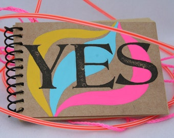 YES Mini Journal, sketchbook, notebook, scrapbook, blank, travel