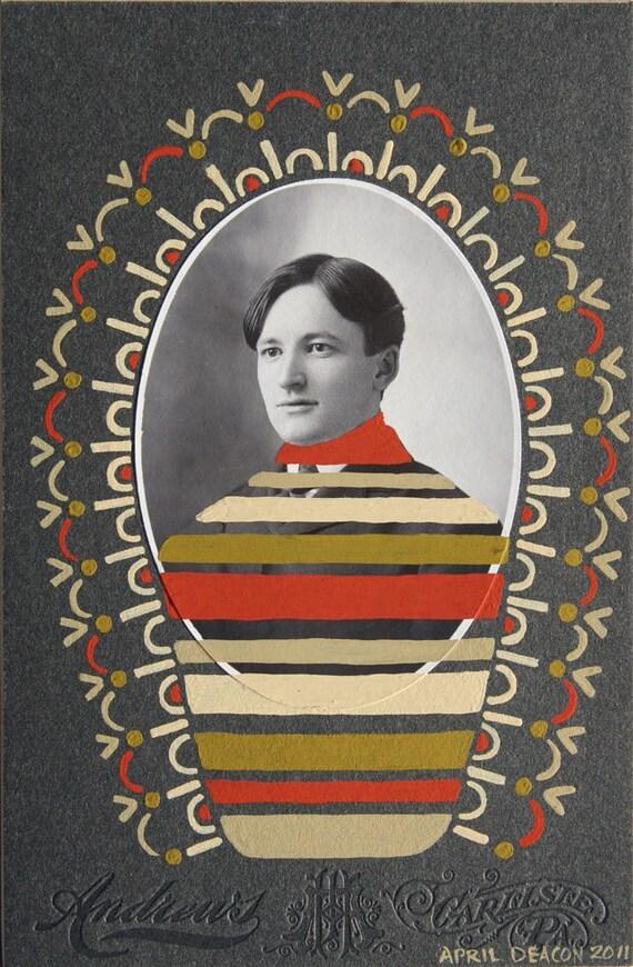 PERCIVAL PLENTY, original painted, vintage cabinet card
