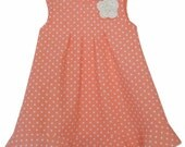 Corrie Organic Cotton Dress with Flower