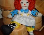 Bright and Bouncy Handmade Rag Doll...