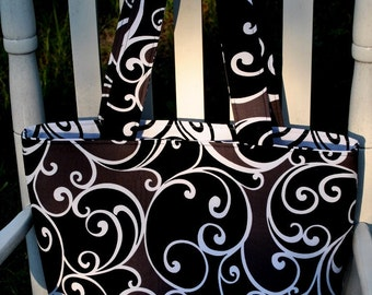 Whimsy Black and White Tote