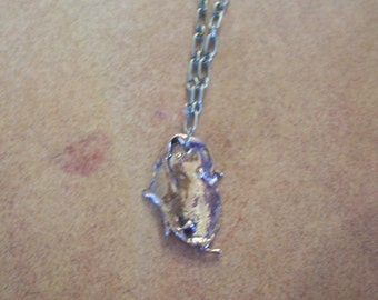 Bronze drip necklace pendant