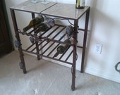 Wrought iron wine rack/ serving table