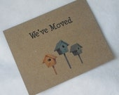 Moving Announcement Change of Address Postcards - Set of 12 print on Recycled Kraft Paper