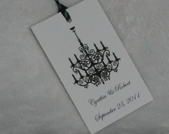 Chandelier Wedding Favor Tags Set of 12