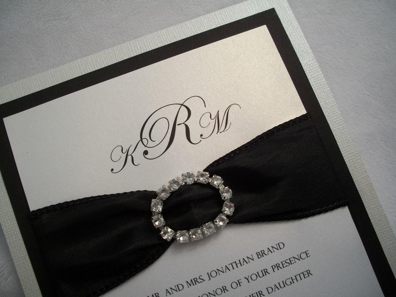 White Wedding Invitations: Wedding Invitation Suite Pearl White And By InvitationsbyJill