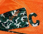 Personalized Camo Minky  Blanket Camoflauge.  Also available... bib, burp rag, or pillow.