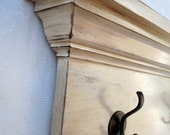 """Distressed Colonial Antique White 48"""" Wall Shelf"""