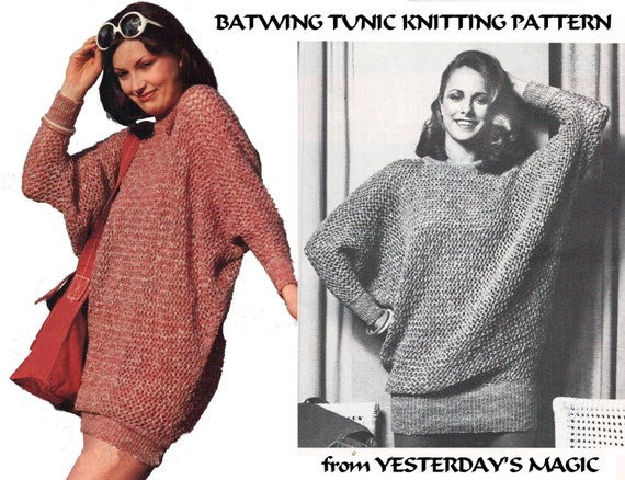 Knitting Pattern Jumper Dress : Instant Download PDF Knitting Pattern to make a Thigh Length