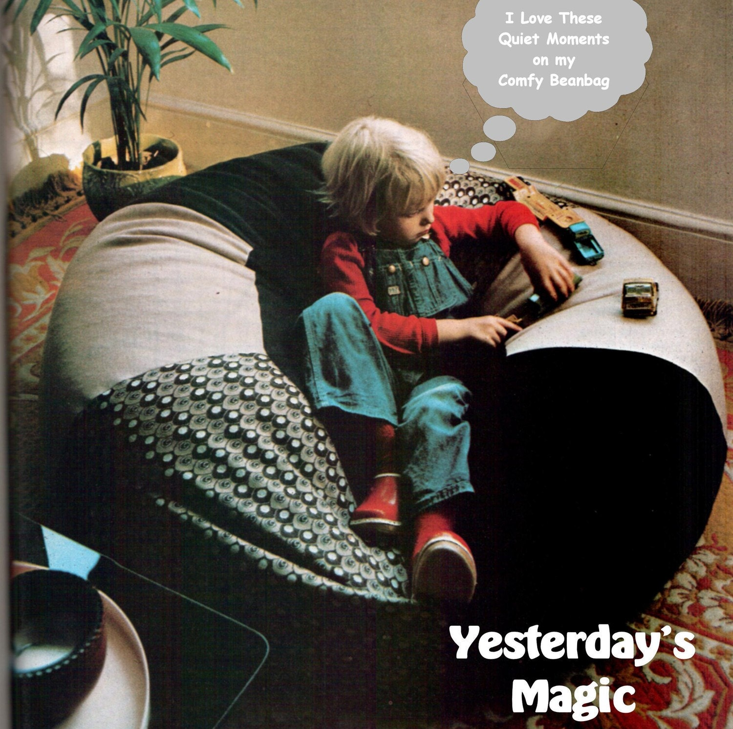 Instant Download PDF Chart SEWING PATTERN To Make A Giant Bean Bag Chair Large Floor Cushion Retro Childrens Furnishing Studio Lounger
