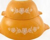 Golden Butterfly Pattern Pyrex Cinderella  Mixing Bowls Buy 1 get 1