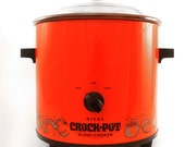 Retro Orange Rival Slow Cooker