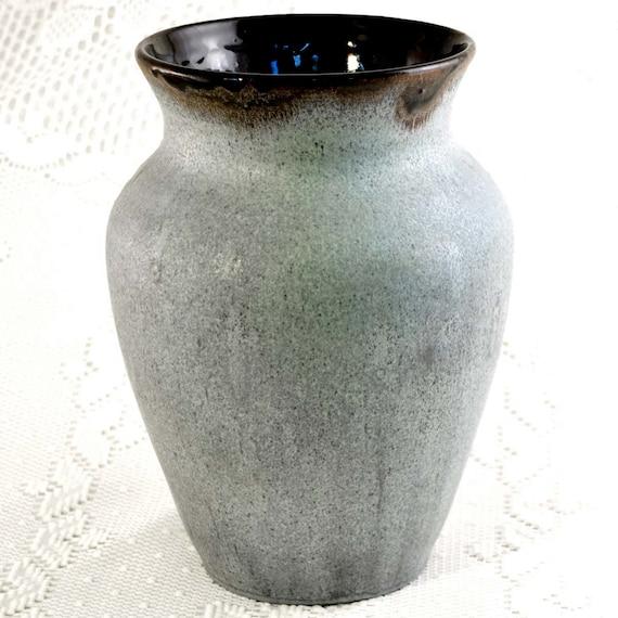 Beautiful Wheel Thrown Large Blue Pottery Vase