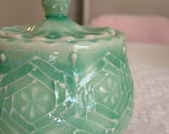 Thrown Lidded Jar-Green