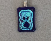Pawprint in blues pendant
