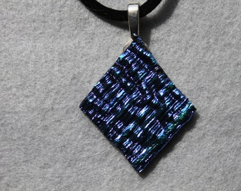 Textured dicro glass necklace