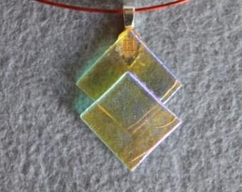 Fused glass dicro choker