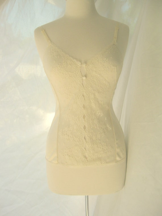 Vintage Sheer Lace Cream Camisole Sz M