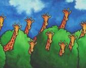 Giraffe Print  5 x 7