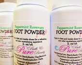 Foot Odor Eliminating Foot Powder Peppermint Rosemary 2oz