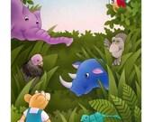 Jungle Friends   original illustration