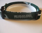 Handmade Cotton Dog Collar Michigan State Spartans