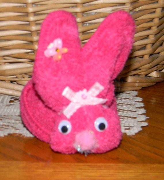 Washcloth Bunnies: Items Similar To Homemade New Pink Boo Boo Bunny Baby