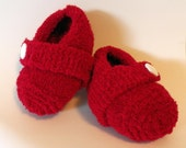 Knit Baby Shoes - Ruby Slippers - Size 6 -12 Months