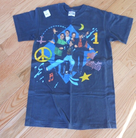 SALE Vintage NKOTB New Kids On the Block Black T Shirt reduced 19 to 12