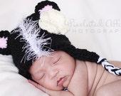Little Stinker Crochet Skunk Baby Hat