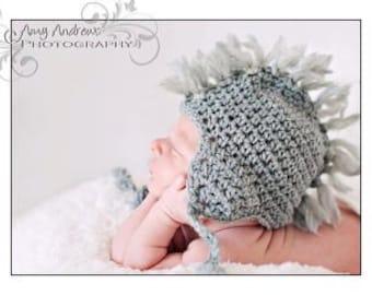 Crochet Baby Mohawk Hat