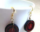 Retro Quilled Paper  Coil Earrings  by Rocio Toscano - Handmade Jewelry
