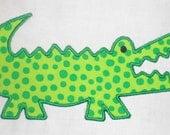 Alligator Machine Embroidery Design Applique
