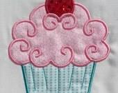 Fancy Cupcake Embroidery Design Machine Applique