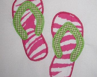 Flip Flops machine Embroidery Design