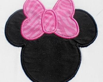 Girl Mouse Embroidery Design Machine Applique with Bonus Mini set
