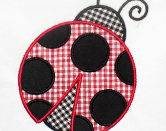 Summer Ladybug Embroidery Design Machine Applique