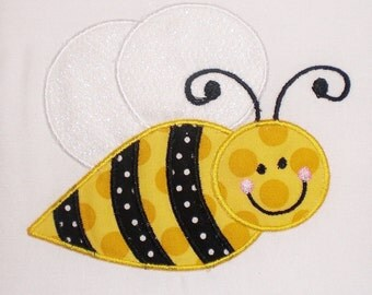 Bumble Bee Embroidery Design Machine Applique