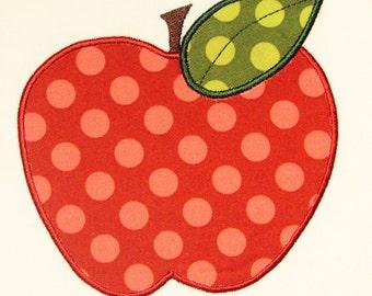 Back to School Apple Embroidery Design Machine Applique